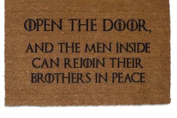 open the door, game of thrones, door mat, doormat, got