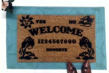 Ouija board spirit medium ghost HALLOWEEN spooky awesome porch decor doormat sa