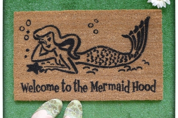 Mermaid Hood™  OR What up fishes?!™ funny doormat