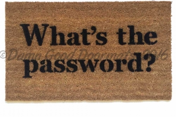 What's the password funny computer nerd door mat