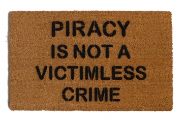 Piracy is not a victimless crime doormat
