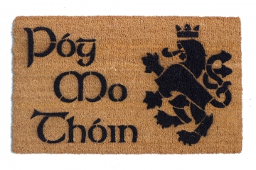 Póg Mo Thóin Irish kiss my ass Heraldic Lion Medieval Welcome doormat