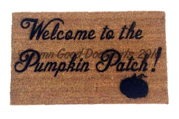 Pumpkin Patch doormat, fall porch decor