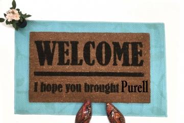 PURELL! No Covid 19! donation doormat