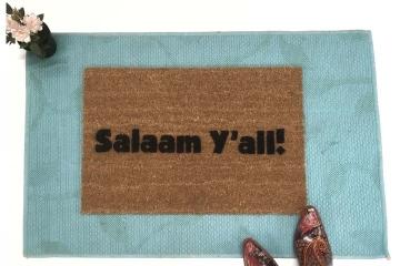 Salaam Y'all, funny southern Muslim doormat