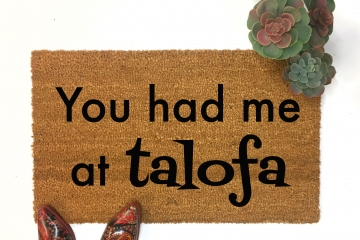 Samoan You had me at talofa doormat