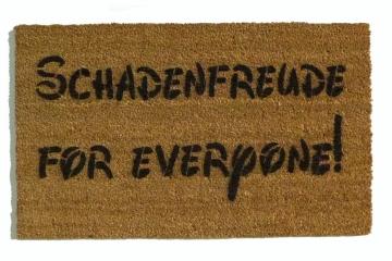 Schadenfreude for everyone!™ funny pleasure of pain doormat German
