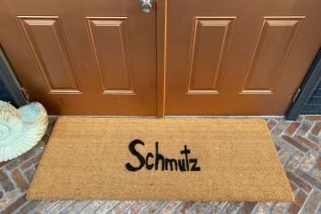 double wide schmutz yiddish doormat judaica jewish Hanukkah