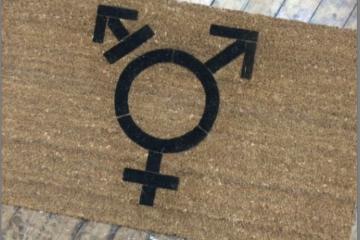 Trans Pride LGBTQIA doormat