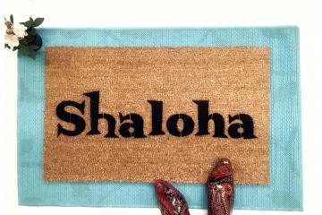 SHALOHA! jewish aloha funny doormat