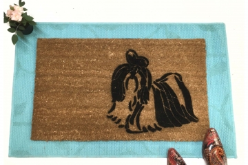 Shih Tzu dog doormat