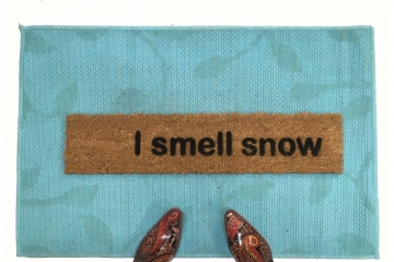 I smell snow Gilmore Girls funny winter doormat