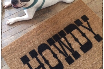 Howdy Texas A&M Aggie Southern welcome doormat