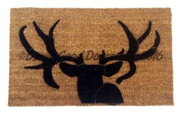 deer head silhouette doormat