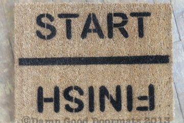 Start / Finish Rat race runner- funny Novelty doormat
