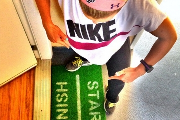 START FINISH runners doormat