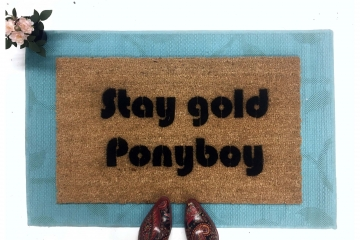 Stay gold Ponyboy.... The Outsiders, stepbrothers doormat
