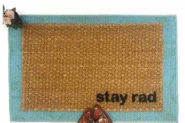 stay rad skateboarder doormat awesome eco friendly