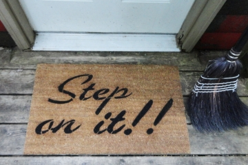 Step on it! DOORMAT