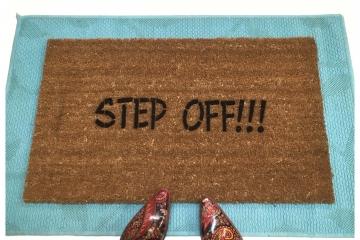Step off!!™ funny, rude, doormat