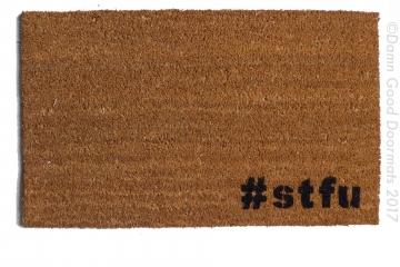 hashtag #stfu go away rude doormat outdoor eco friendly door mat funny hashtag