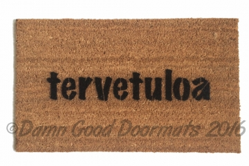 finnish tervetuloa welcome doormat