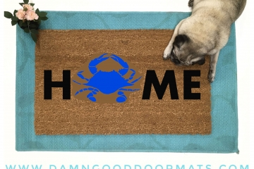 Home maryland crab funny doormat