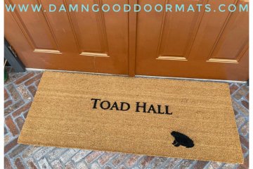 doublewide XL Wind in the Willows, Toad Hall doormat Hand Painted