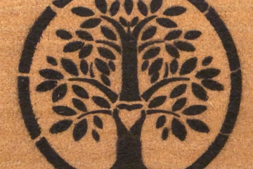 eco-friendly Tree of Life doormat