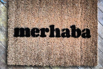 Turkish merhaba welcome mat