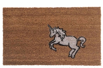 unicorn fairy tale medieval cute sweet doormat