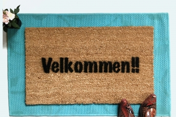 Norway Norwegian doormat Velkommen Come In