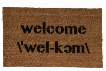 Welcome , Webster's pronunciation doormat