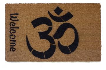 Welcome OM doormat hindu housewarming damn good doormat