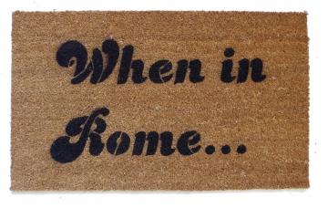 When in Rome Anchorman Ron Burgundy doormat