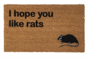 I hope you like rats funny halloween doormat