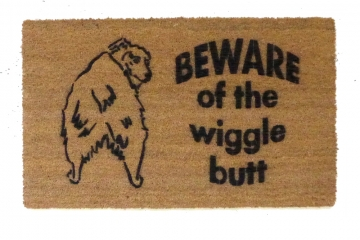Beware of the Wiggle Butt ™ Australian Shepard doormat