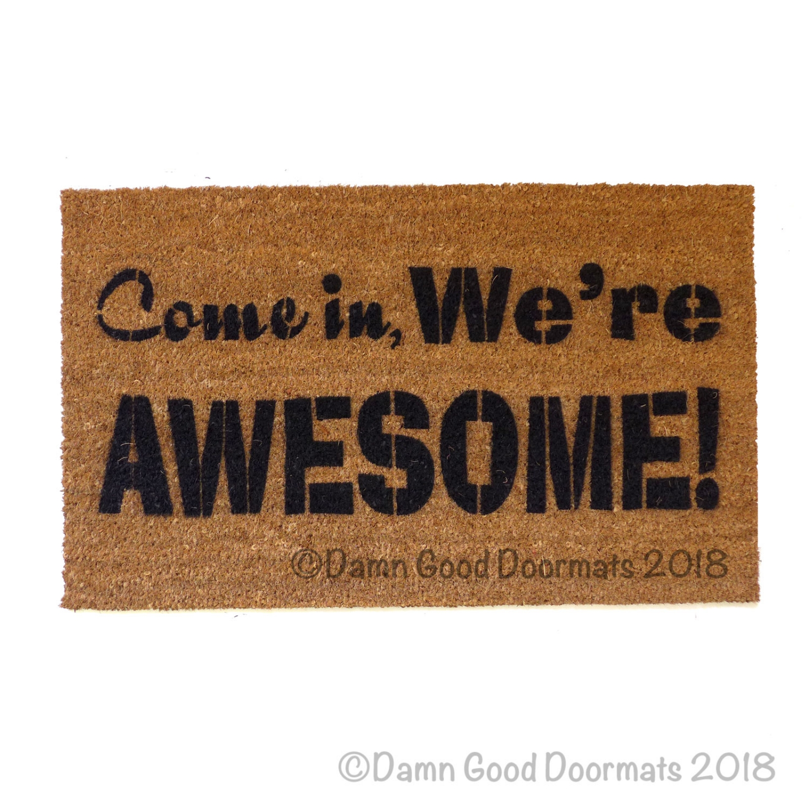 Come In We Re Awesome Cool Sweet Floor Mat Funny Novelty