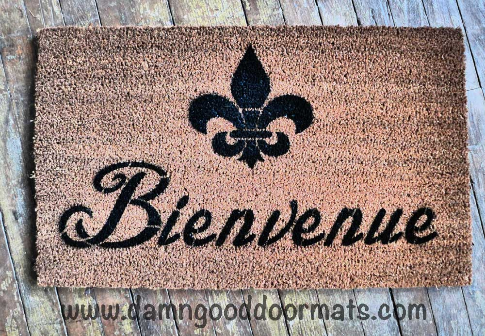 bonjour French good day doormat by Damn Good Doormats | Damn Good ...