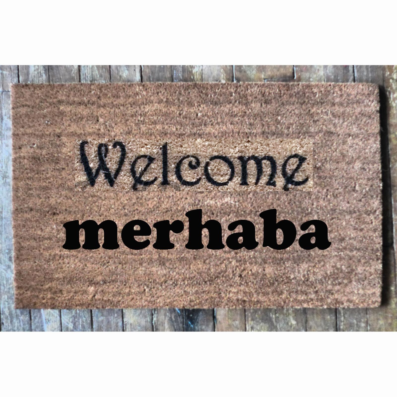 Turkish Merhaba Welcome Mat Damn Good Doormats