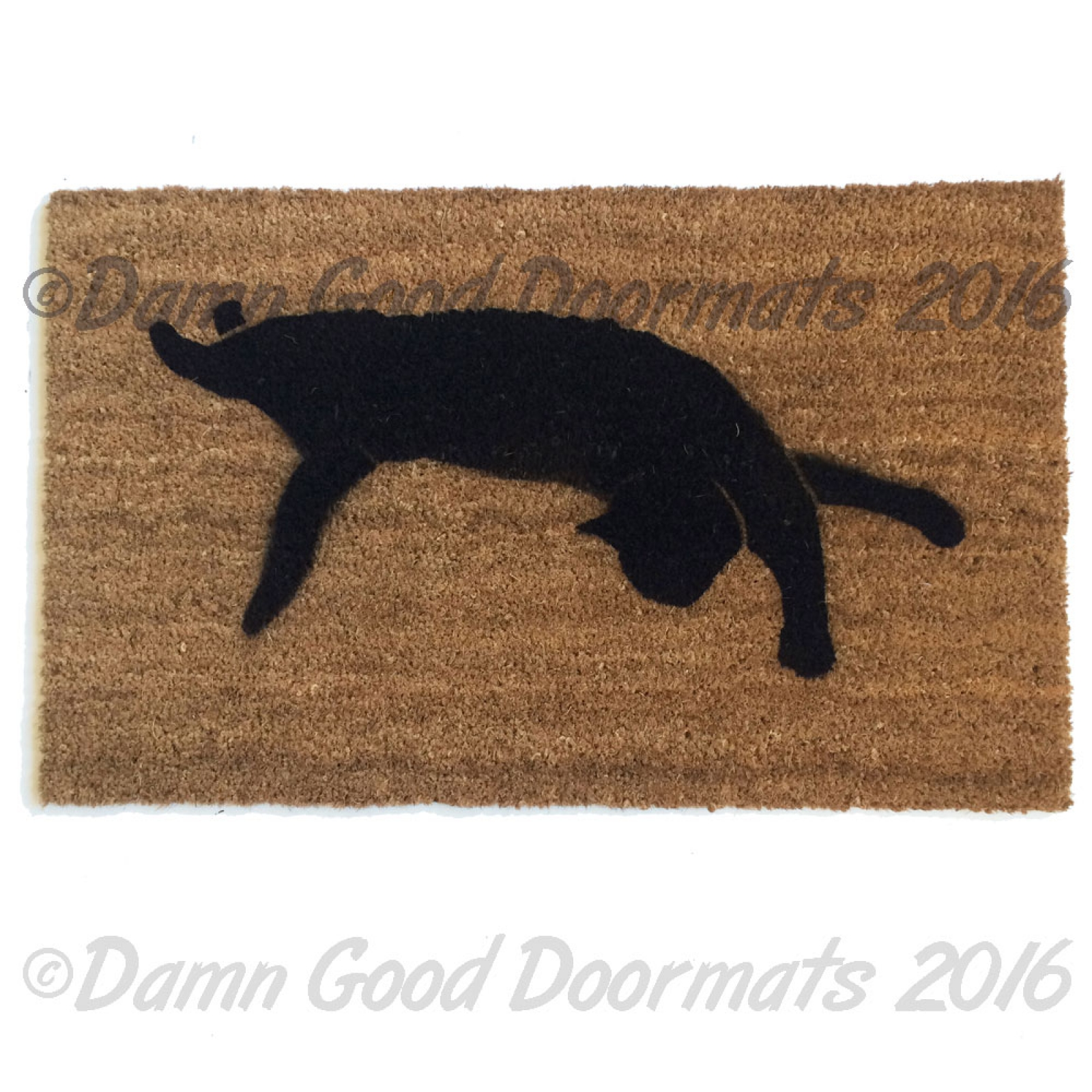 Black cat silhouette Halloween doormat  sc 1 st  Damn Good Doormats & Black cat silhouette Halloween doormat | Damn Good Doormats