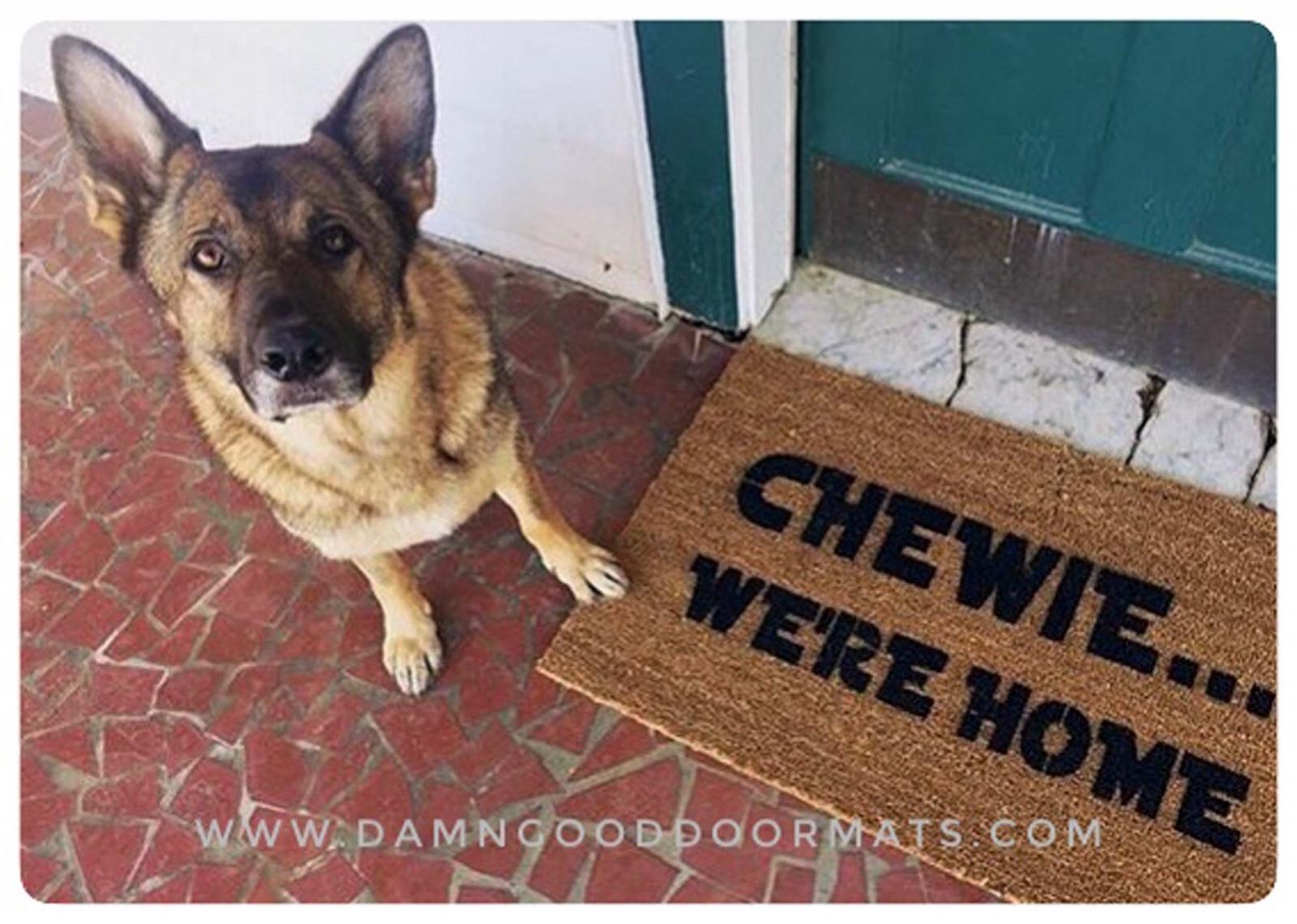 STAR WARS INSPIRED CHEWIE HOME WELCOME COIR DOOR MAT FAN HOUSE WARM GIFT PRESENT