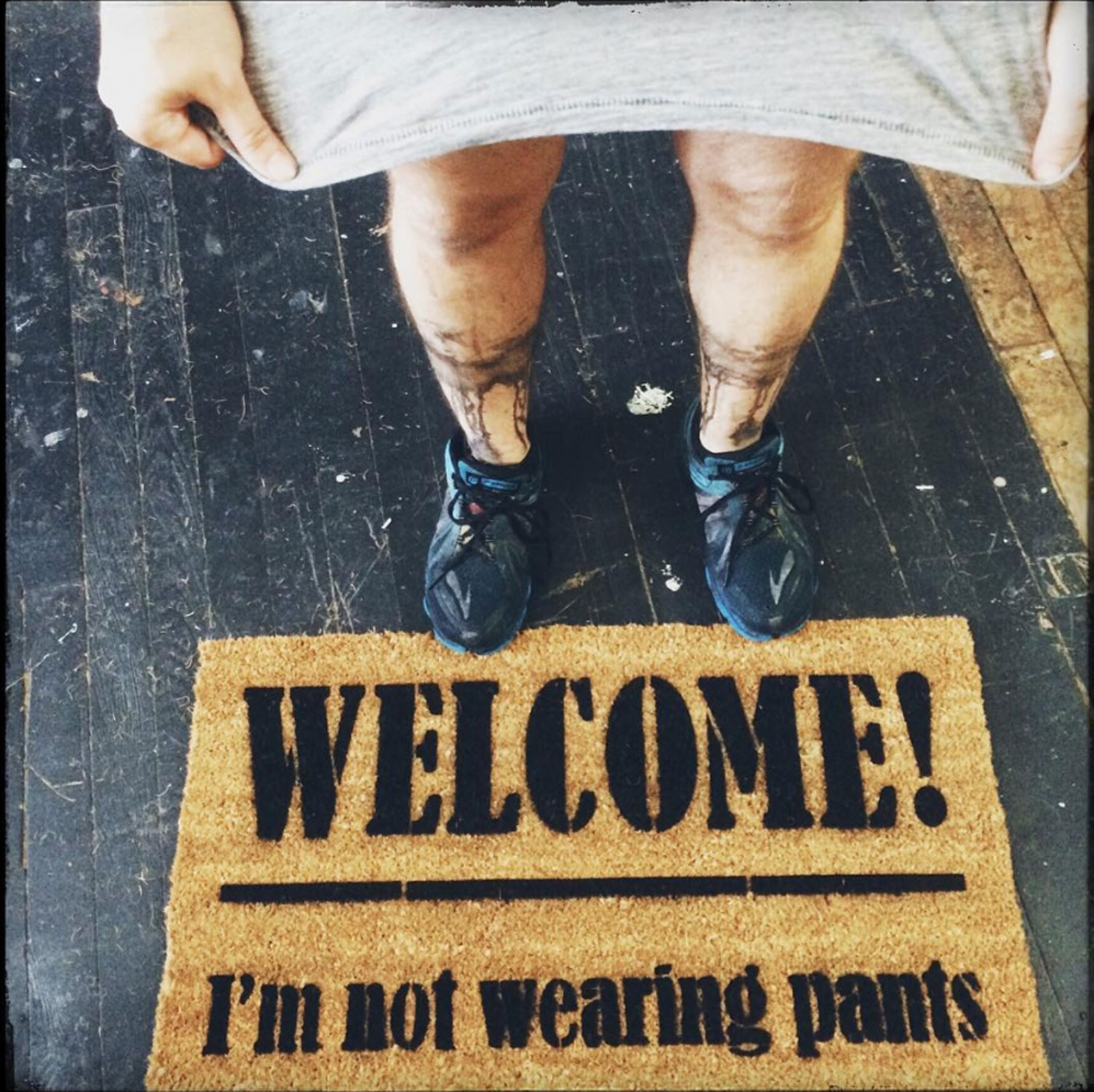 Welcome I M Not Wearing Any Pants Funny Rude Doormat