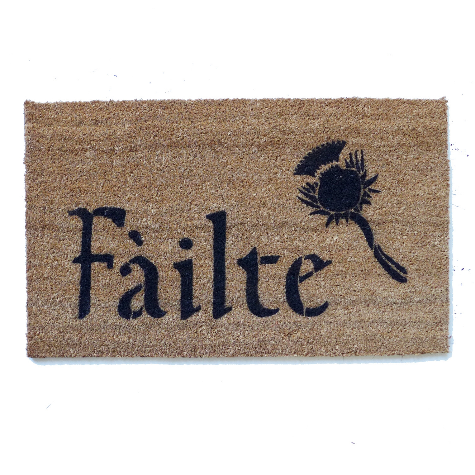 Irish F 225 Ilte And Thistle Or Irish Harp Doormat Damn Good