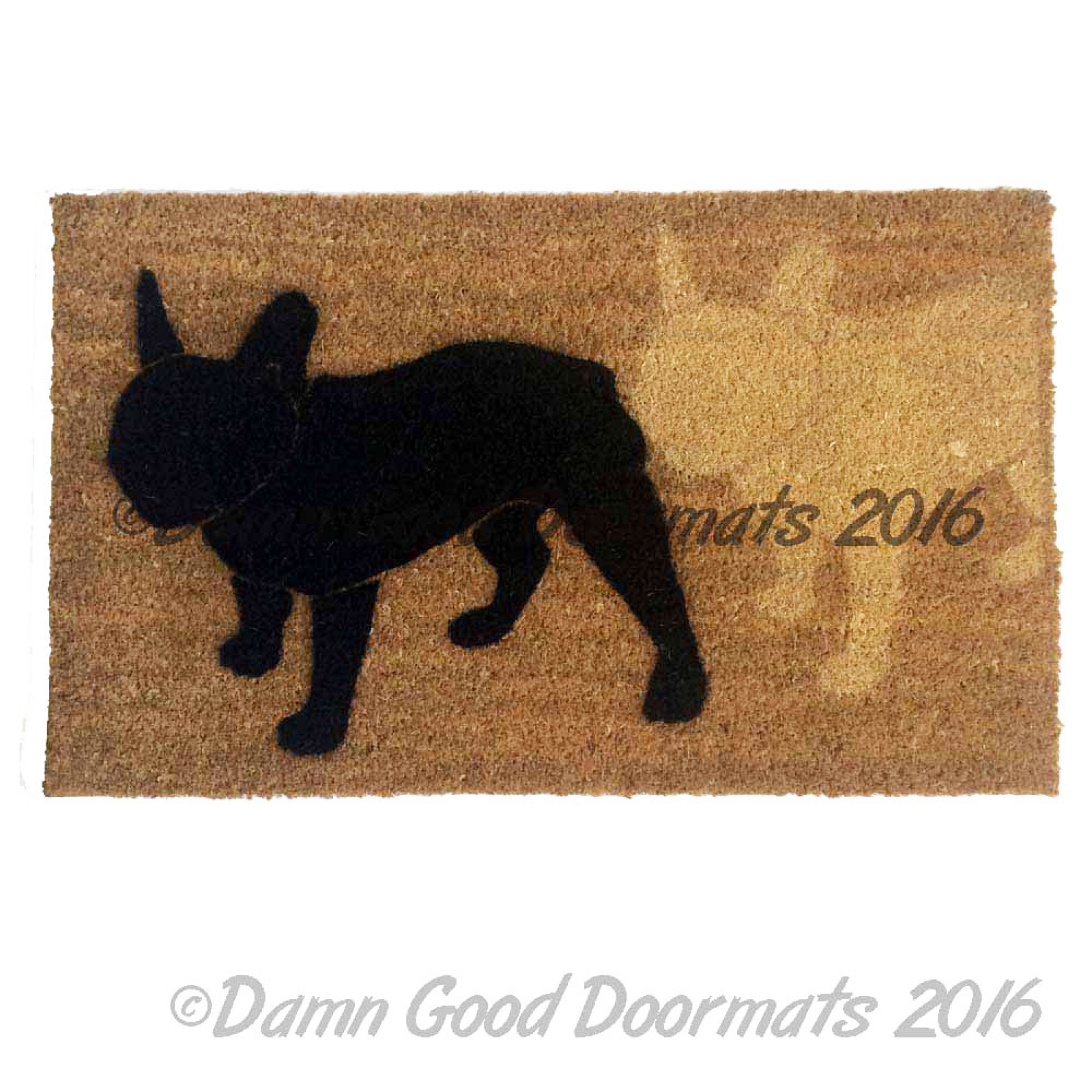 French Bulldog Frenchie Doormat Damn Good Doormats