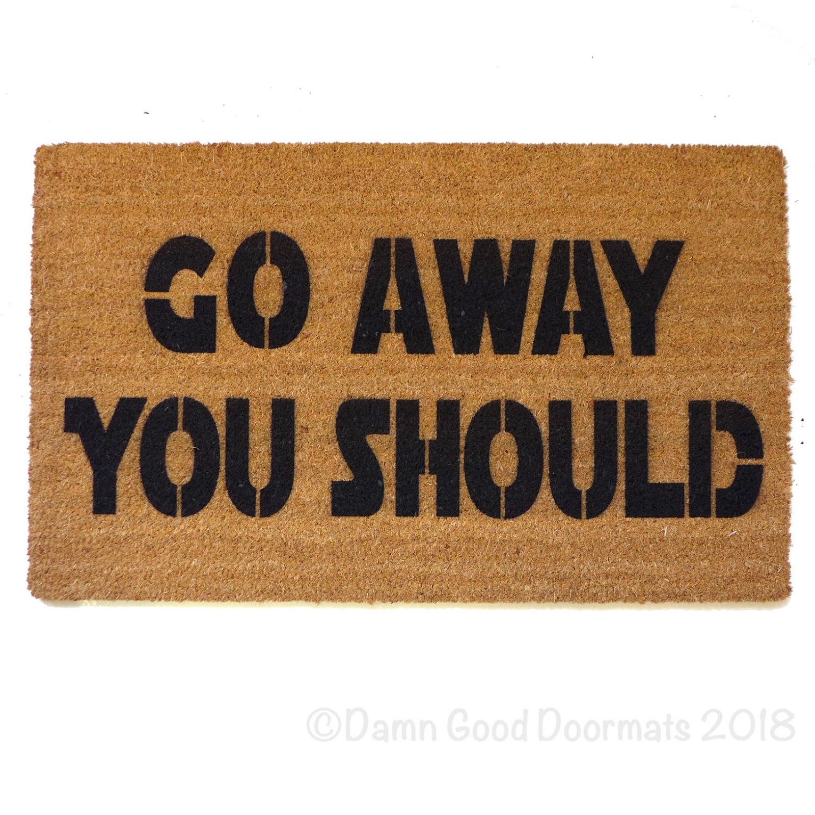 Rude Go Away You Should Funny Modern Doormat Damn