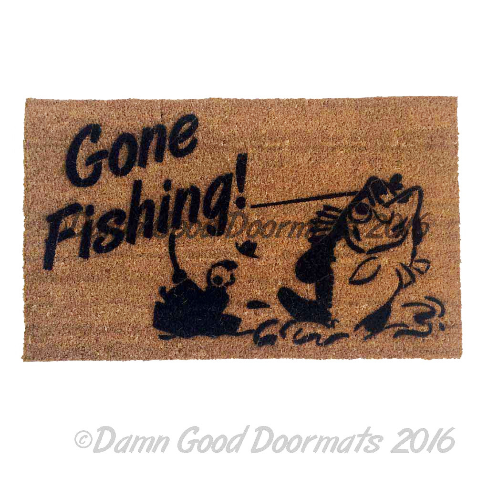 Gone Fishing Doormat Damn Good Doormats