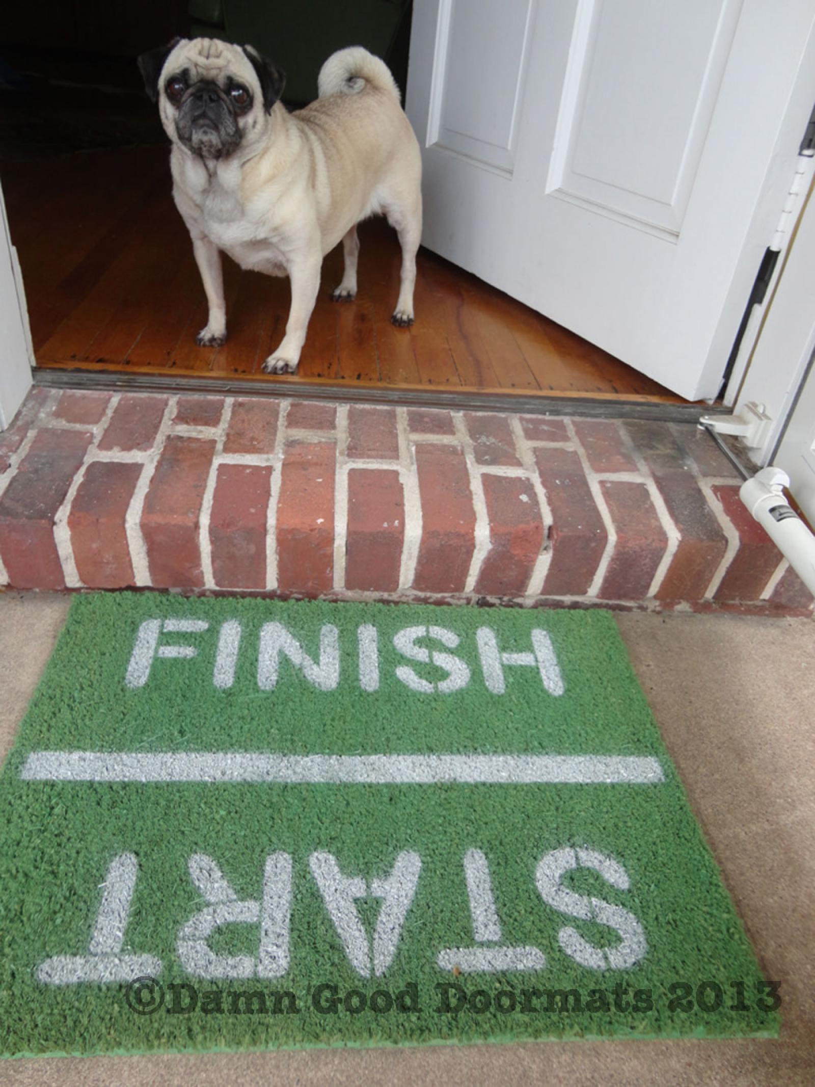 Green Start Finish Runners Doormat Damn Good Doormats