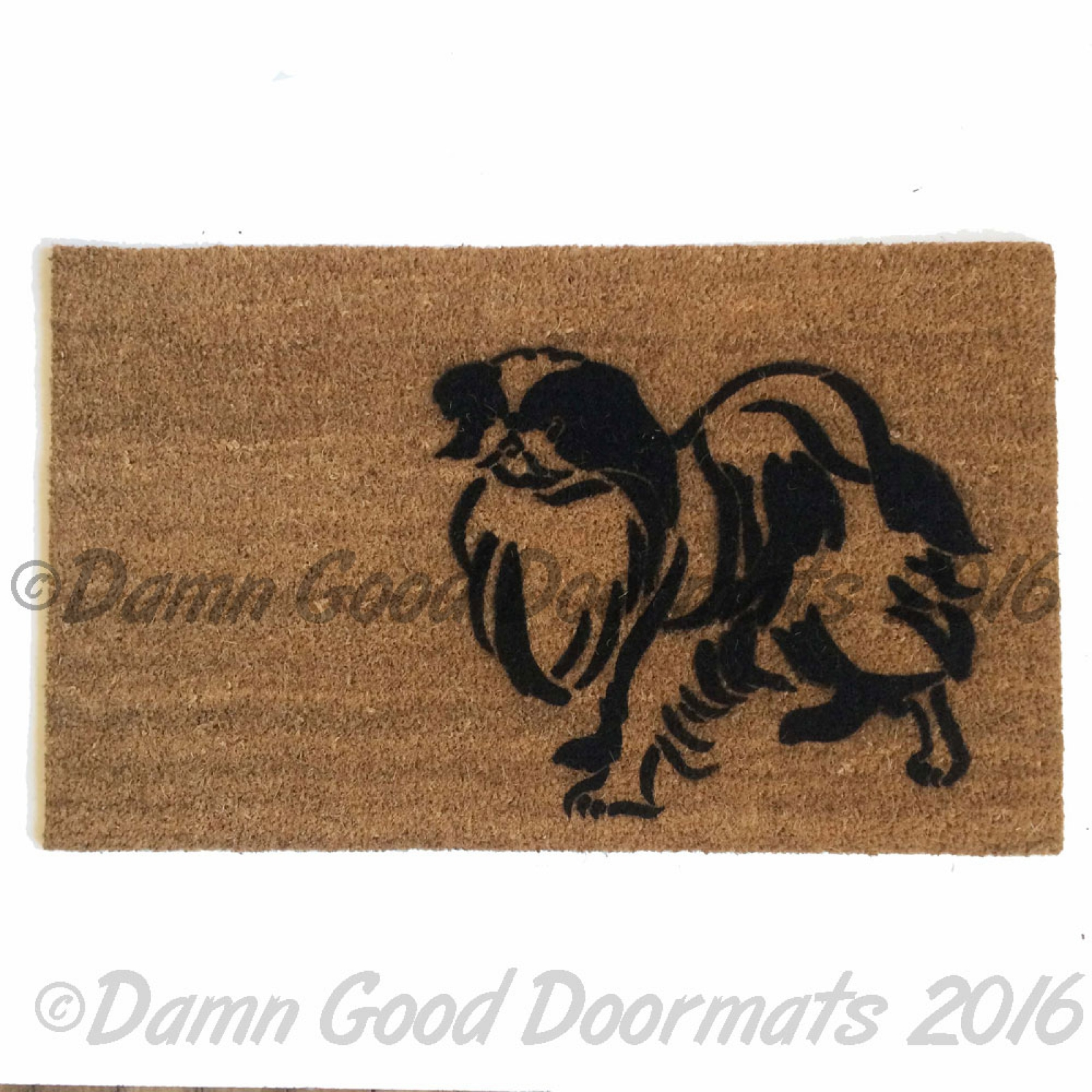 Welsh Corgi Doormat Pet Portrait Dog Damn Good Doormats