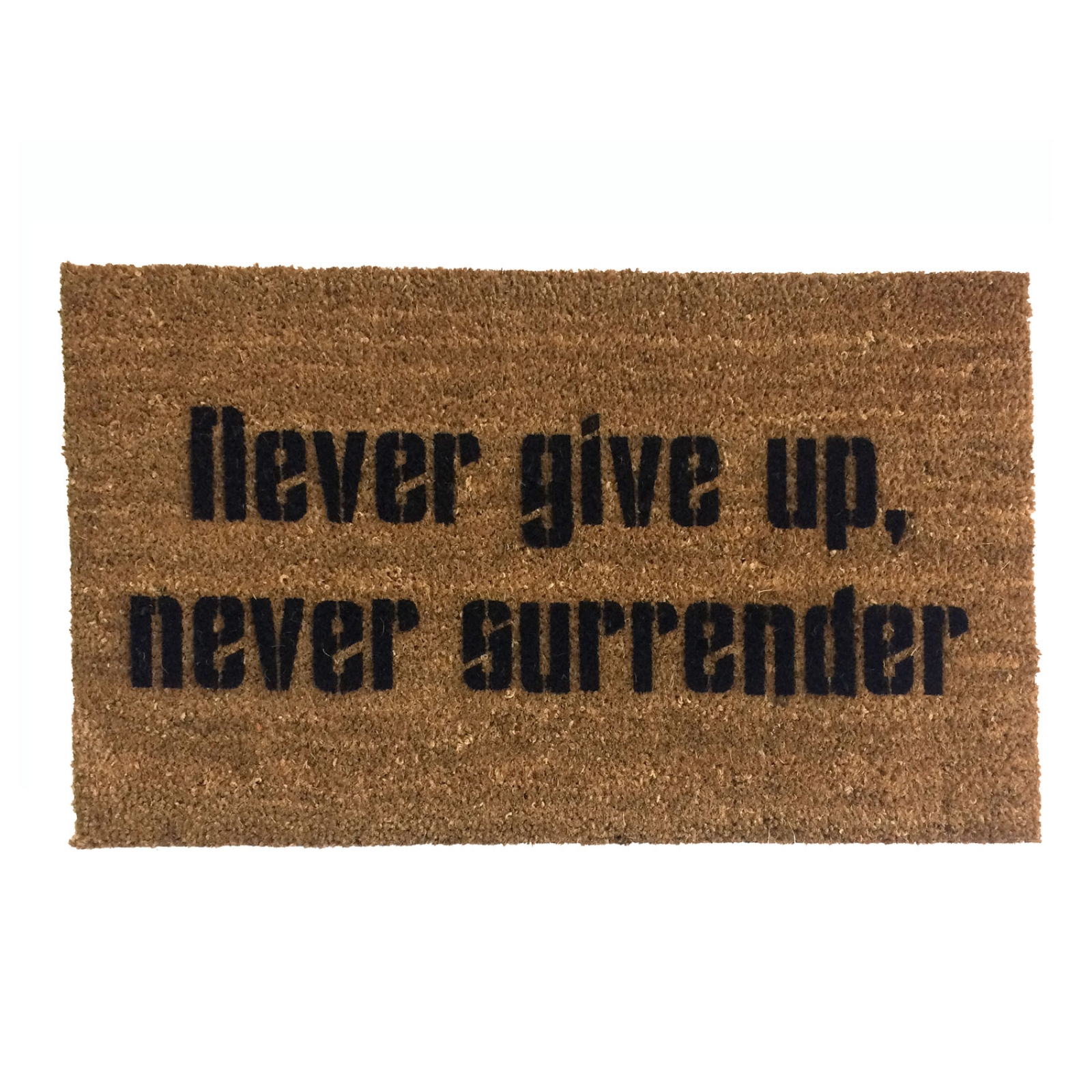 Never Give Up Never Surrender Galaxy Quest Welcome Doormat Novelty